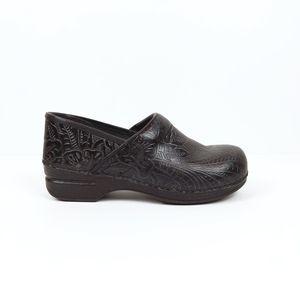 Dansko Professional Embossed Tooled Clogs Size 40